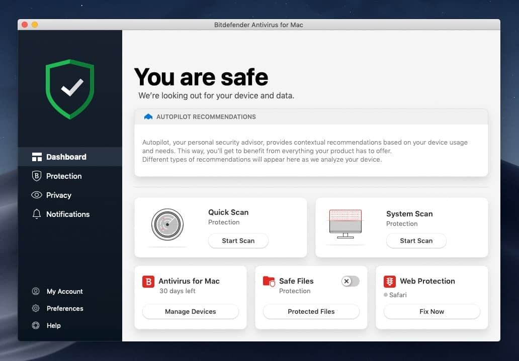 bitdefender antivirus for mac interface