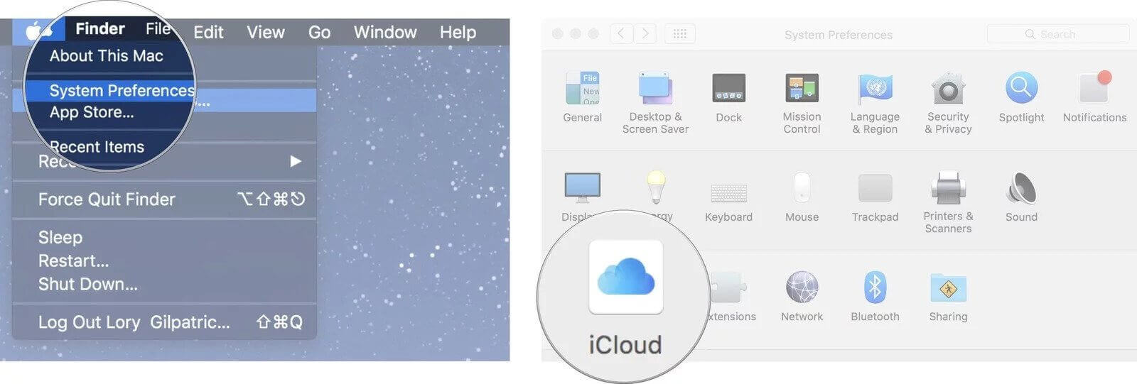 disable icloud