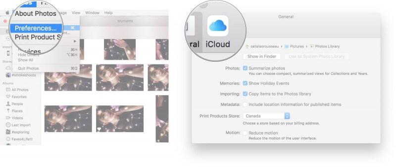 icloud photos setting