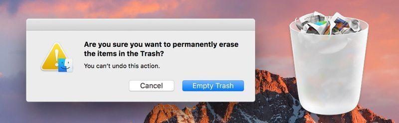 empty trash