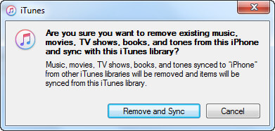 remove and sync music
