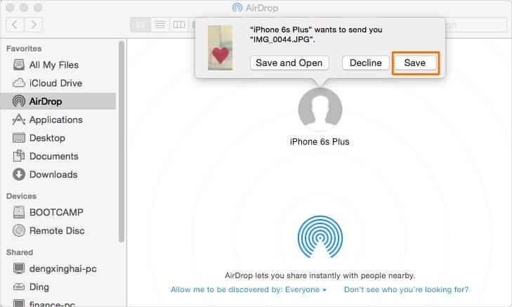 transfer iphone photos to mac via airdrop